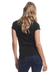 Organic Cotton Maternity Tee - Black - Mums and Bumps