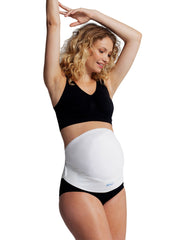 Over-belly Soft Adjustable Maternity Support Belt - White - Mums and Bumps