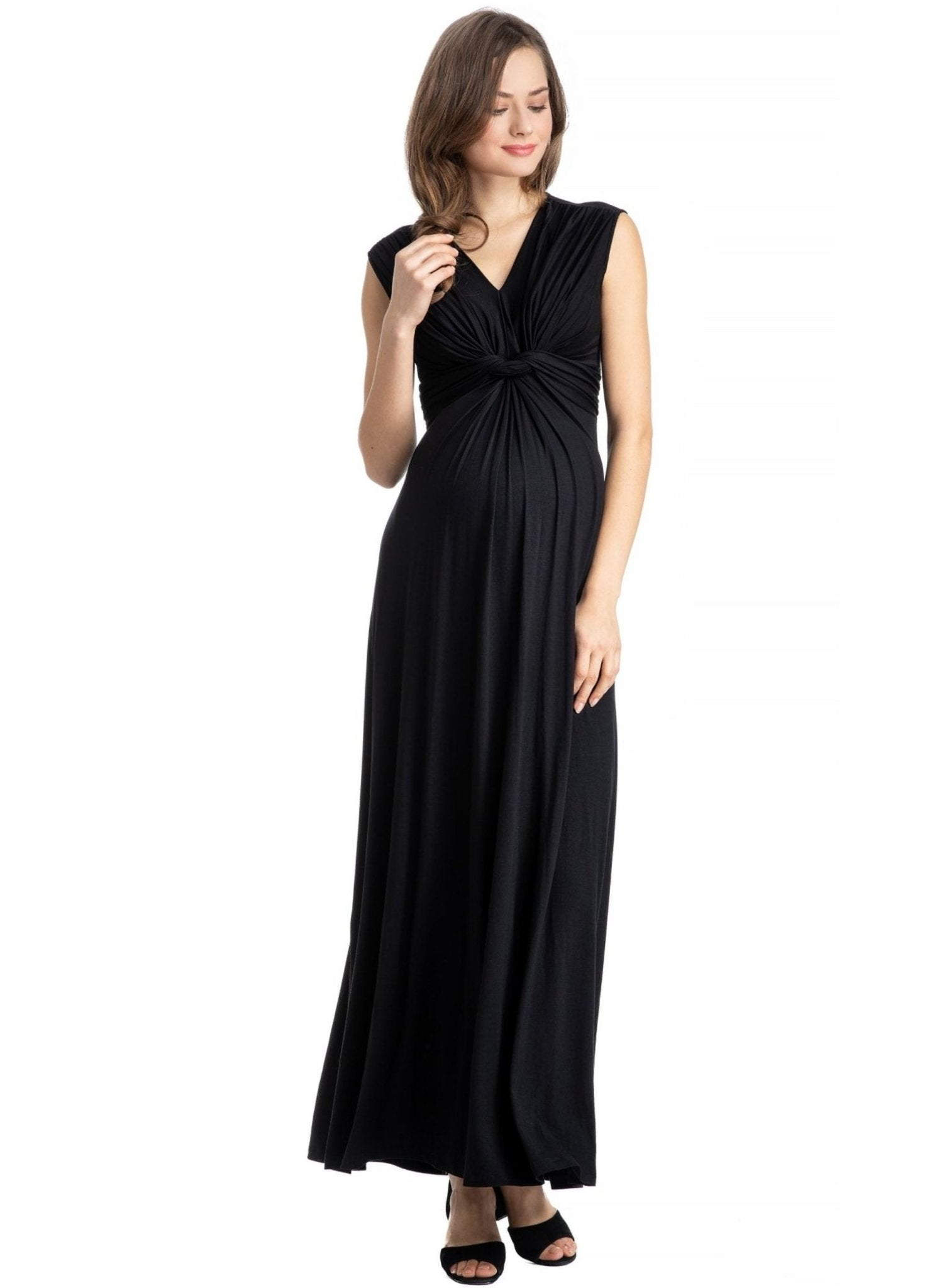Papaver Maternity Dress - Black - Mums and Bumps