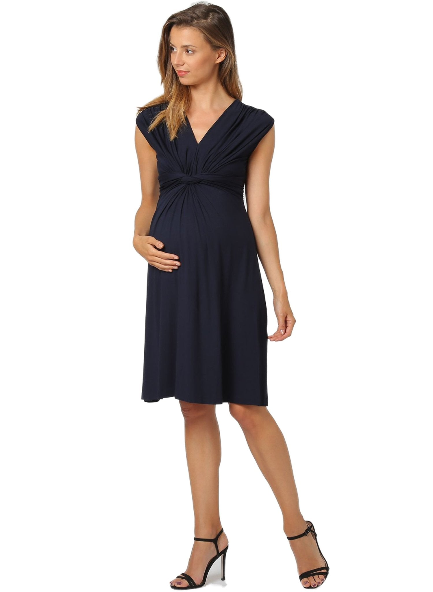 Papaver Maternity Dress - Dark Navy - Mums and Bumps