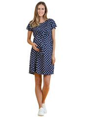 Polka Dot Maternity & Nursing Dress with Bolero - Mums and Bumps