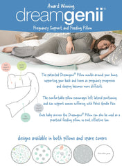 Pregnancy, Support & Feeding Pillow - Grey/Coral - Mums and Bumps