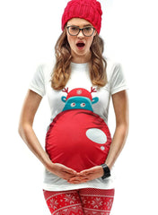 Rudolph's Nose Christmas Maternity T-Shirt - Mums and Bumps