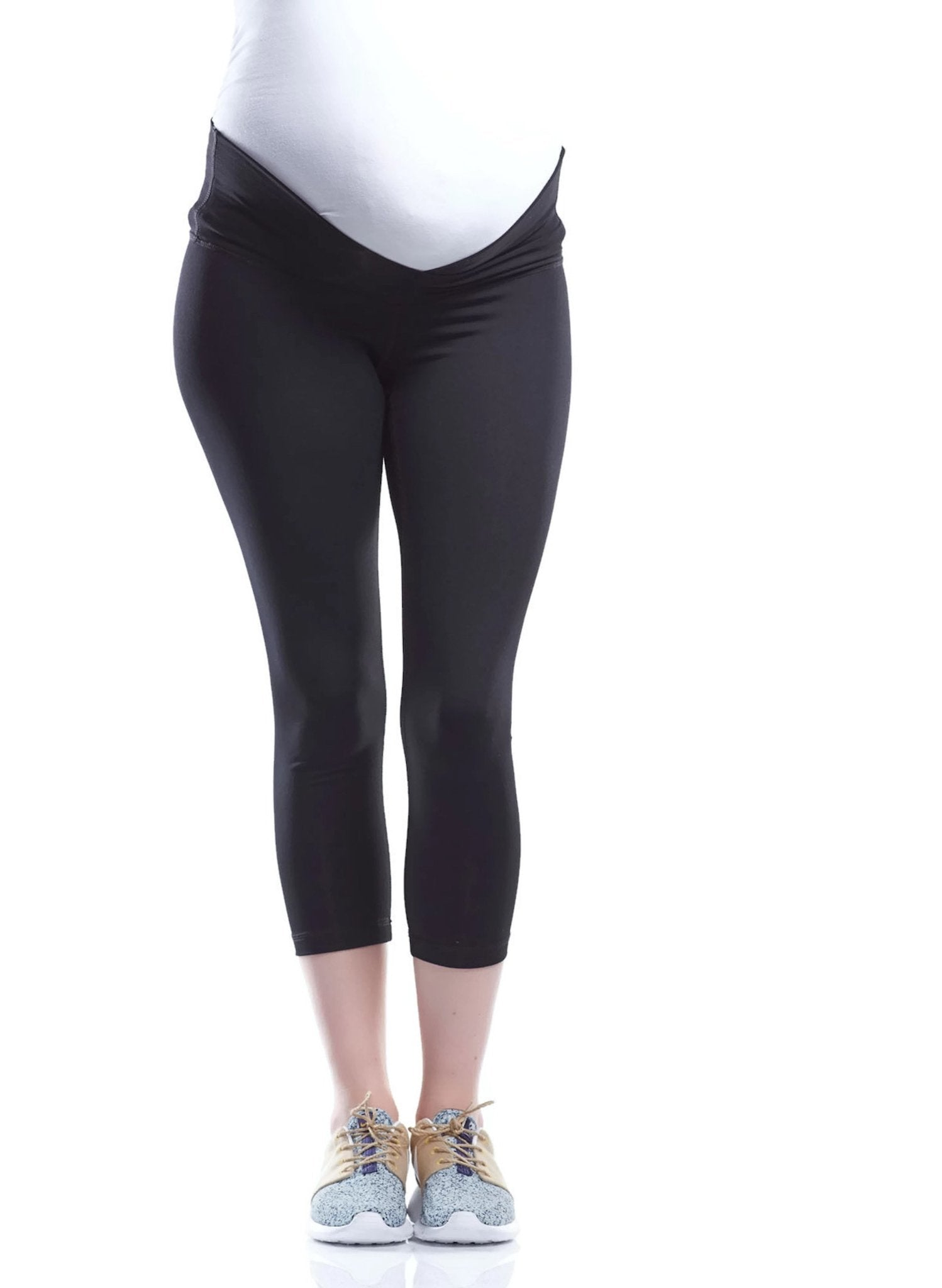 Sage 3/4 Active Maternity Legging - Black - Mums and Bumps