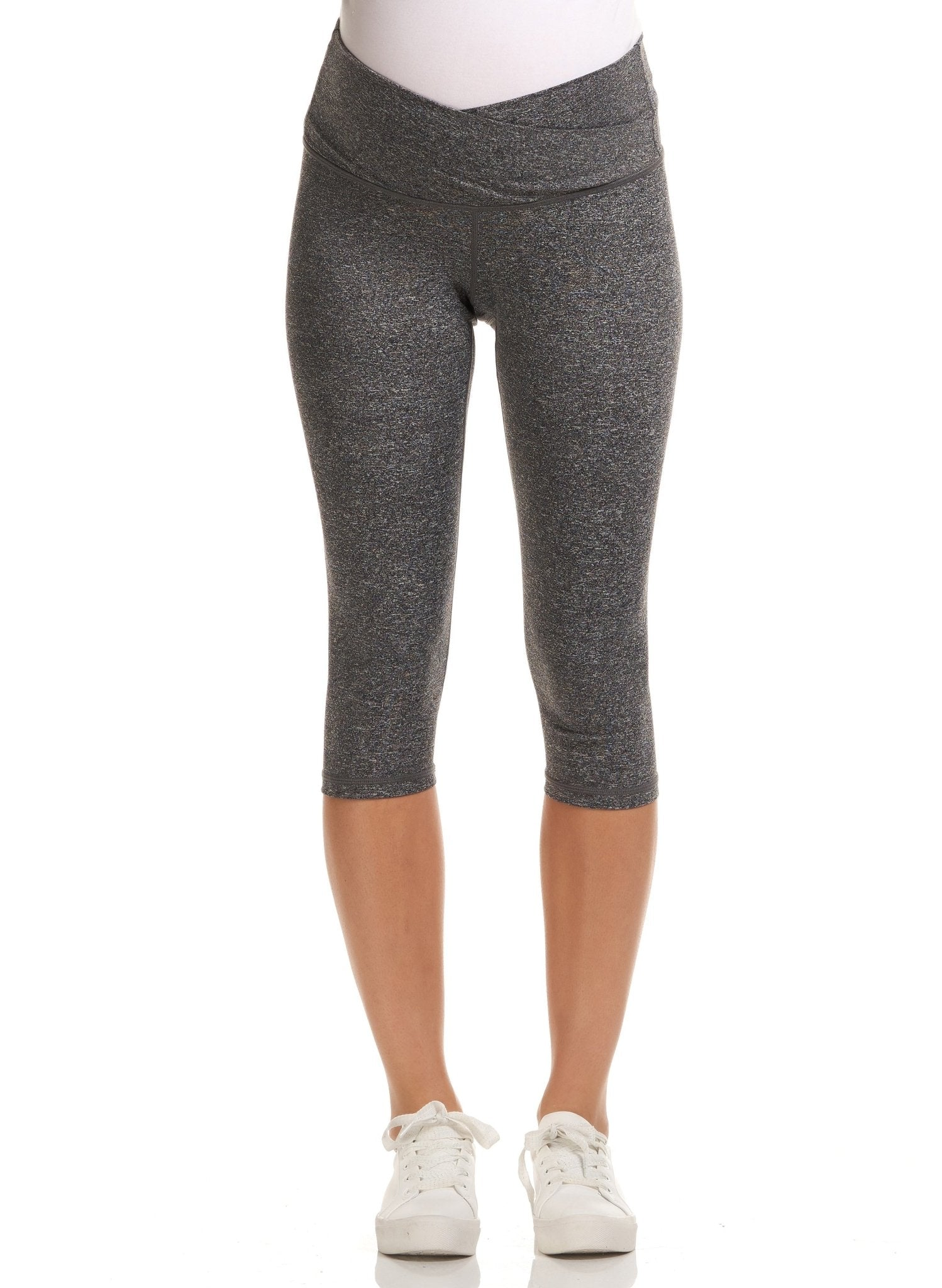 Sage 3/4 Active Maternity Legging - Grey - Mums and Bumps