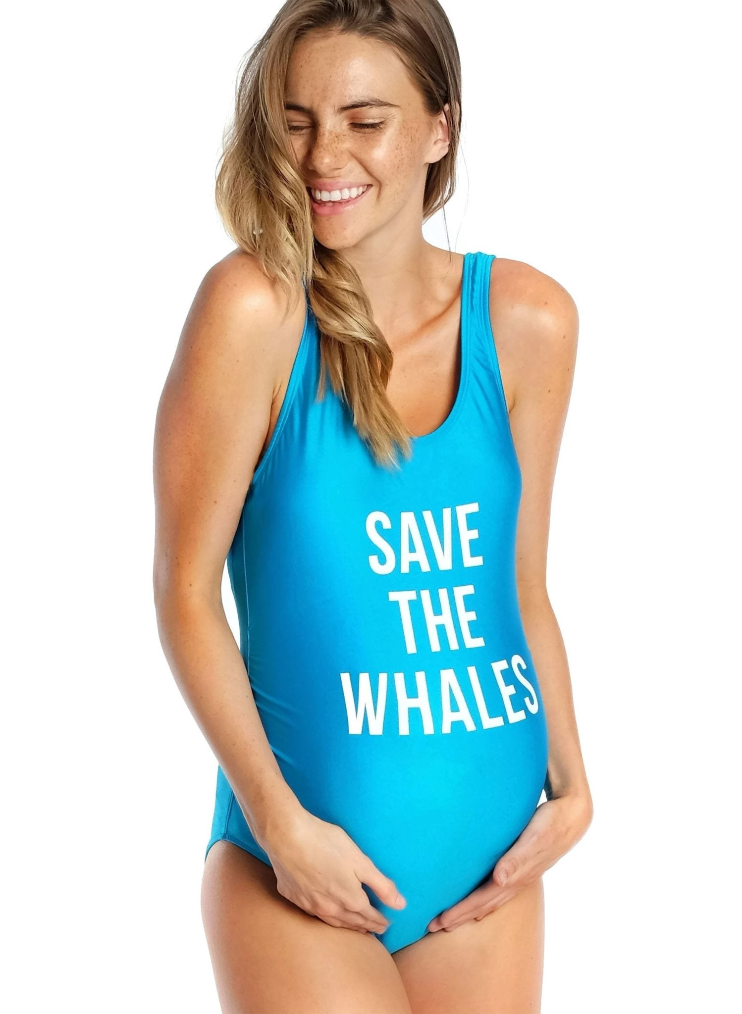 Save the Whales Maternity Swimwear - Mums and Bumps
