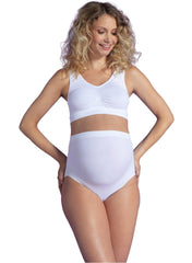 Seamless Light Support Maternity Brief - White - Mums and Bumps