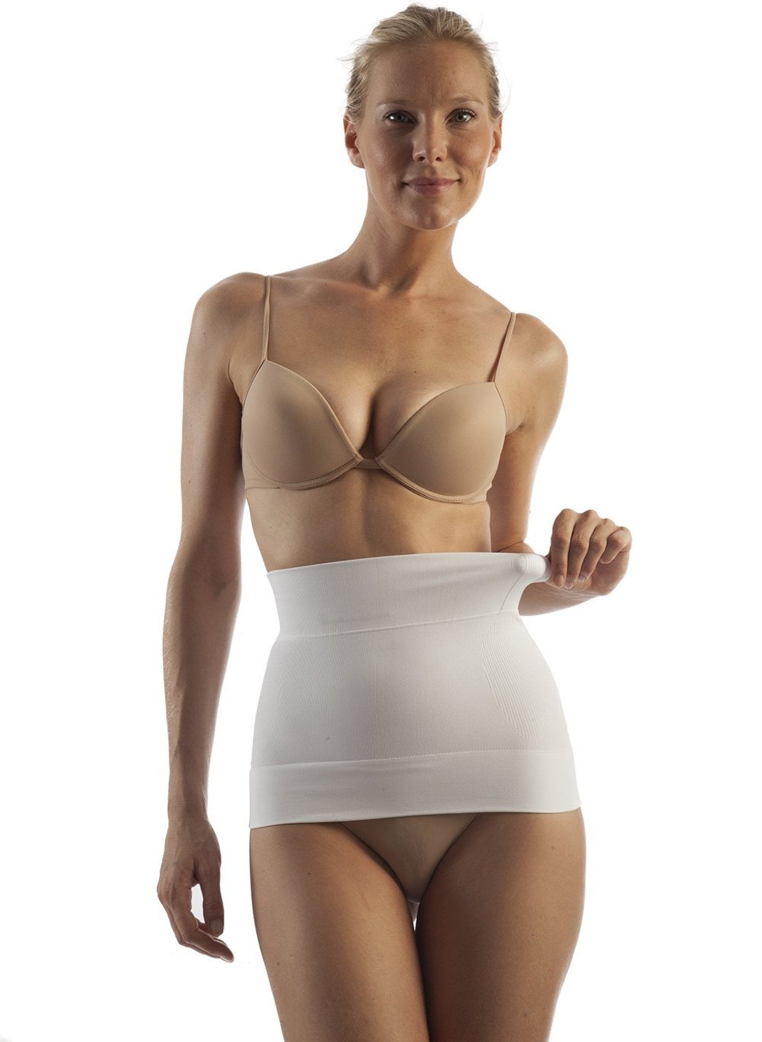 Seamless Milk-Fiber Body Shaping Abdominal Binder - Ivory - Mums and Bumps