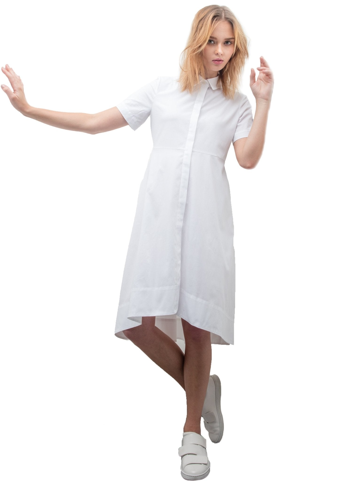 Shirt Maternity Dress - White - Mums and Bumps