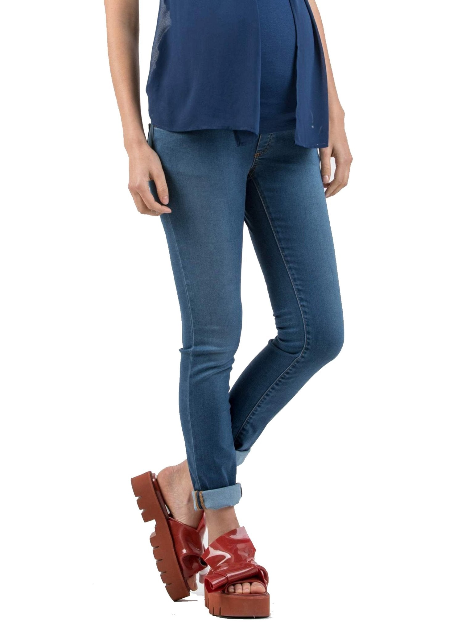 Skinny Fit Maternity Jeans in Tencel - Mums and Bumps