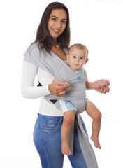 SnuggleRoo Baby Carrier - Light Grey - Mums and Bumps