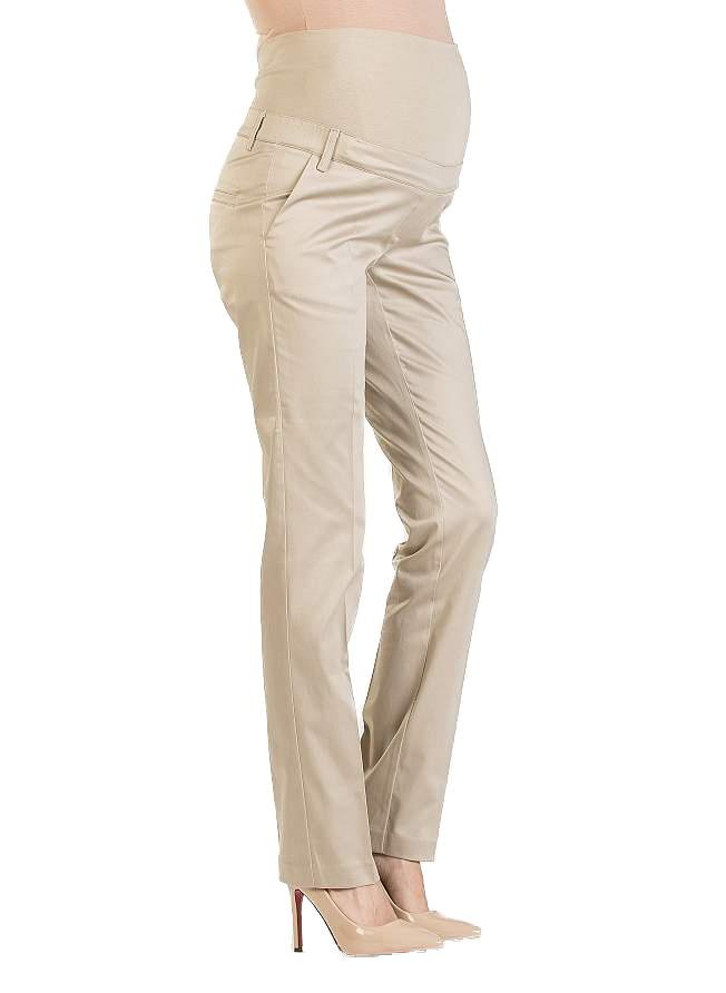 Straight Leg Maternity Trouser - Beige - Mums and Bumps