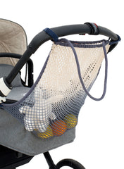 Stroller Net - White Feather - Mums and Bumps