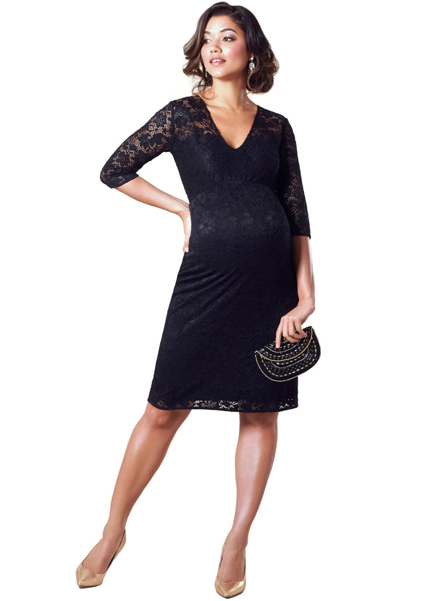 Suzie Maternity Dress- Black - Mums and Bumps