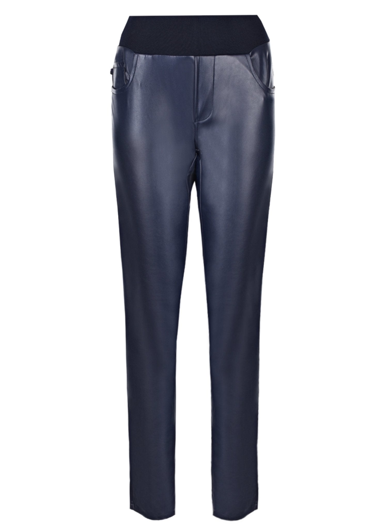 Ultra Skinny Leather Maternity Pants - Blue - Mums and Bumps
