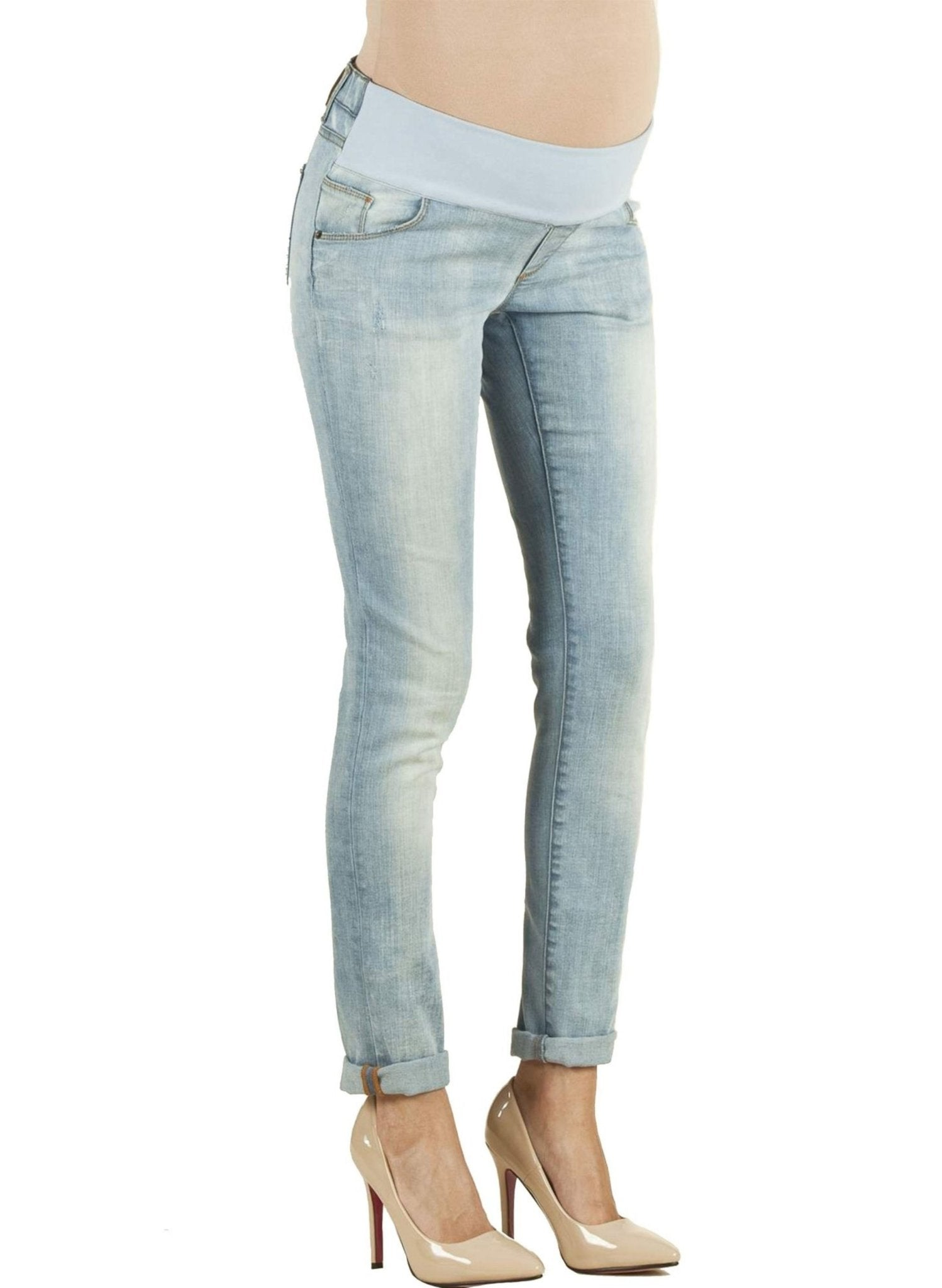 Under-Tummy Skinny Fit Maternity Jeans - Mums and Bumps