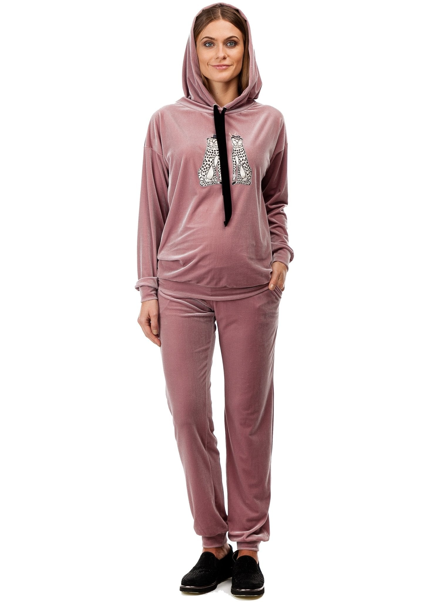 Valentina Maternity Tracksuit (2 Piece Set) - Misty Rose - Mums and Bumps