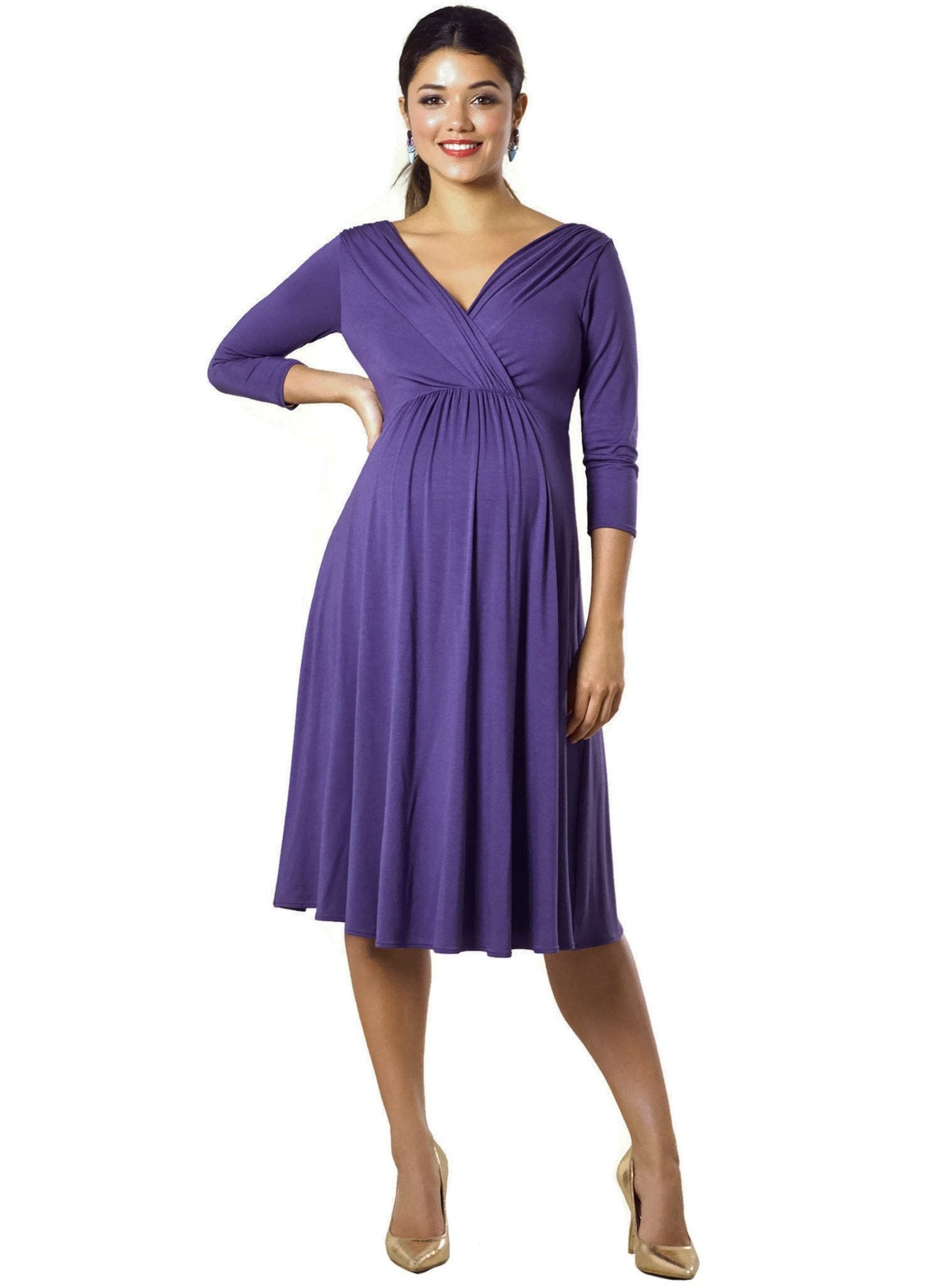 Willow Maternity Dress - Grape - Mums and Bumps