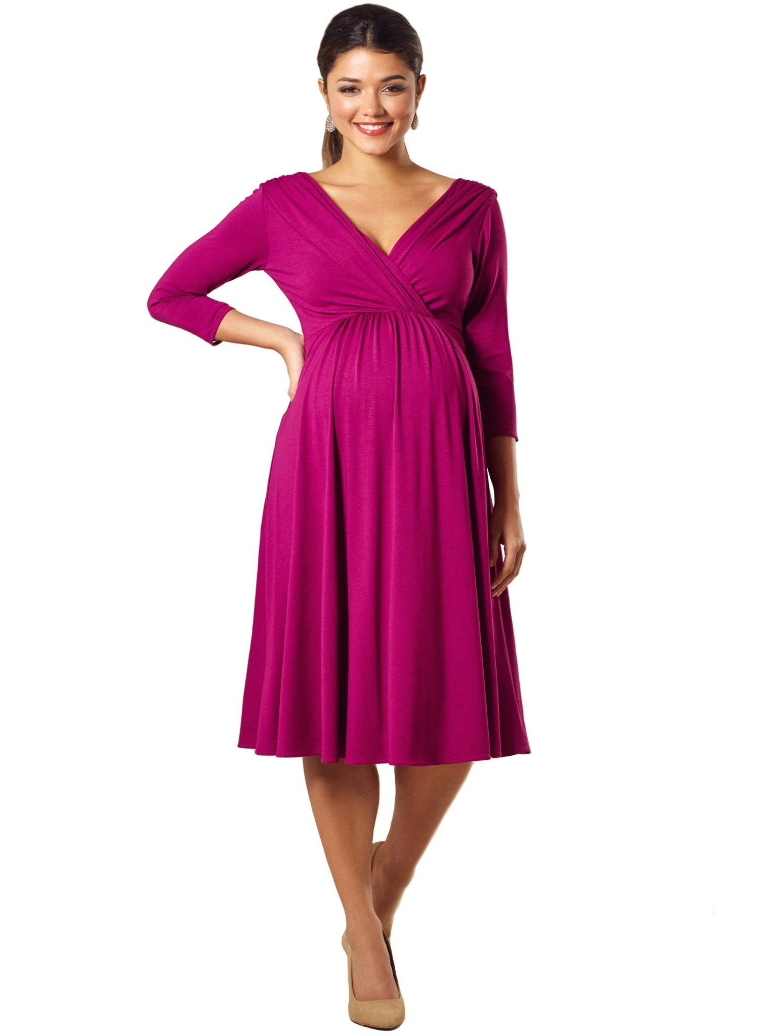 Willow Maternity Dress - Pink - Mums and Bumps