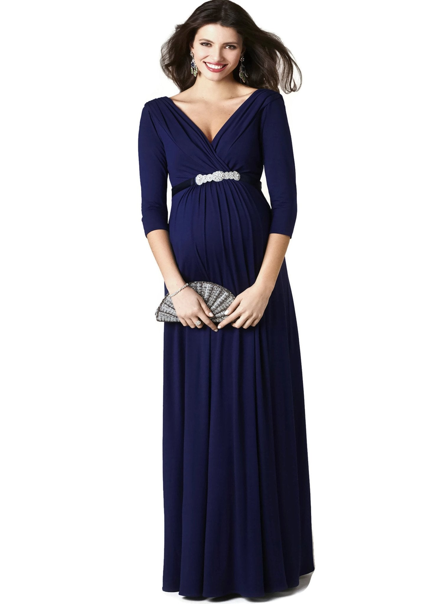Willow Maternity Gown - Eclipse Blue - Mums and Bumps