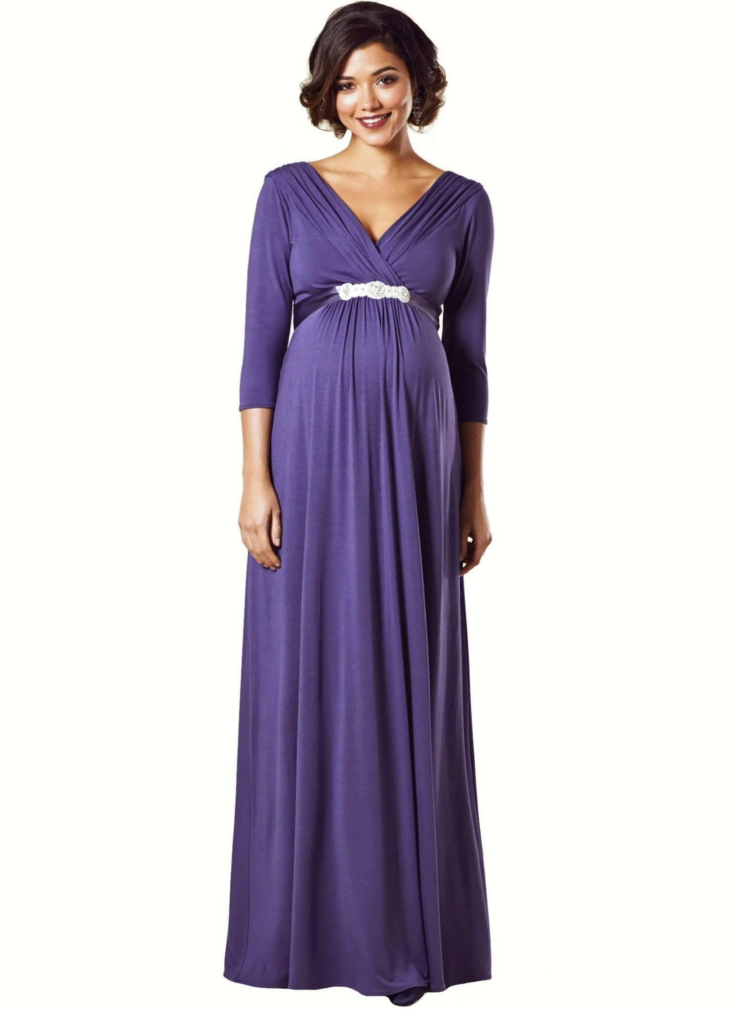 Willow Maternity Gown - Grape - Mums and Bumps