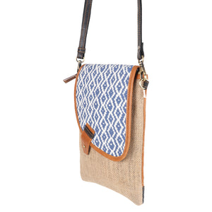 Woodblock Navy Noho Crossbody