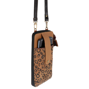 Prism Cheetah Cellphone Crossbody Wallet