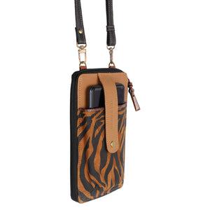 Prism Tiger Cellphone Crossbody Wallet
