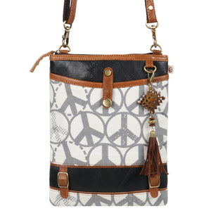 Peace Patterson Small Crossbody