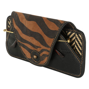 Tiger Eyeglass Case