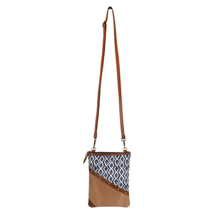Woodblock Navy Brisk Crossbody