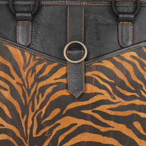 TIGER TOP HANDLE PURSE