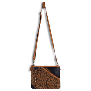 Grayson Wide Cheetah Crossbody