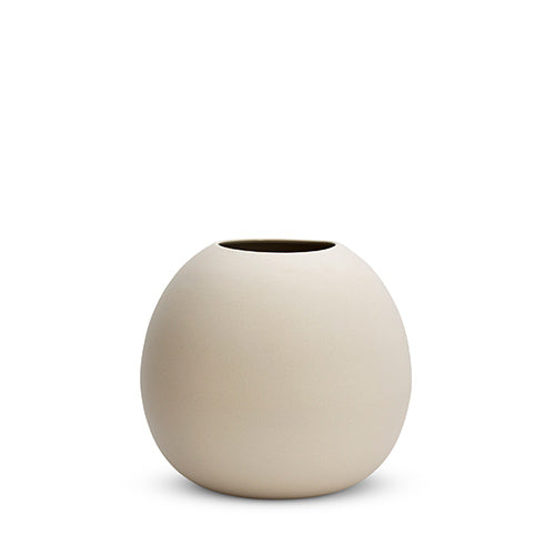 Chalk white cloud bubble vase
