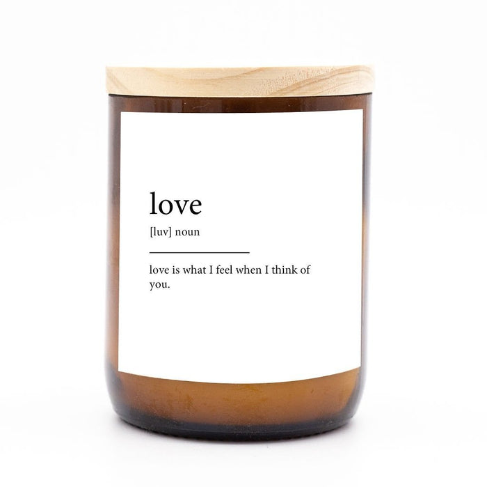 Dictionary Meaning Soy Candle - Love - Winston and Finch