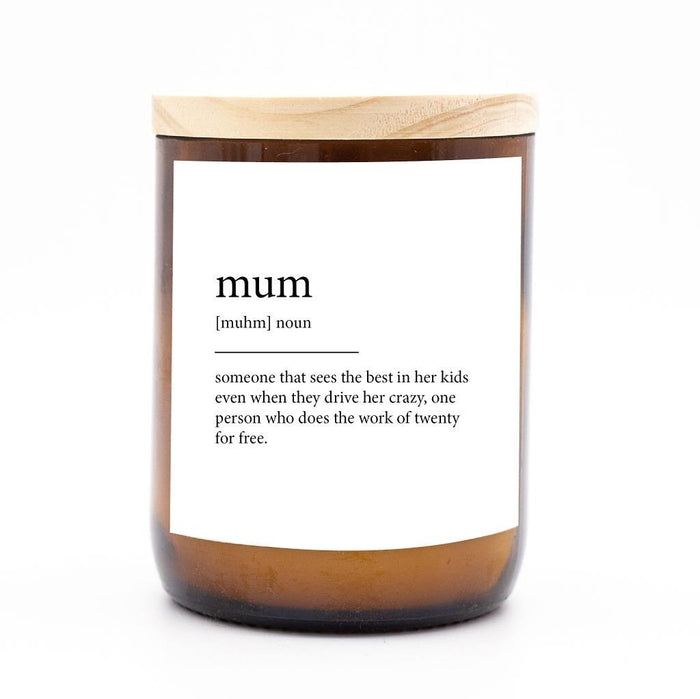Dictionary Meaning Soy Candle - Mum - Winston and Finch