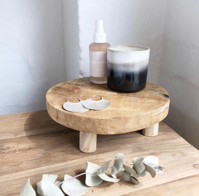 Eka Teak Footed Tray - Winston and Finch