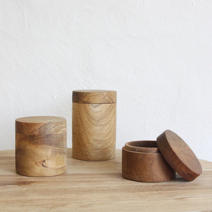Huba Wooden Canisters - Winston and Finch