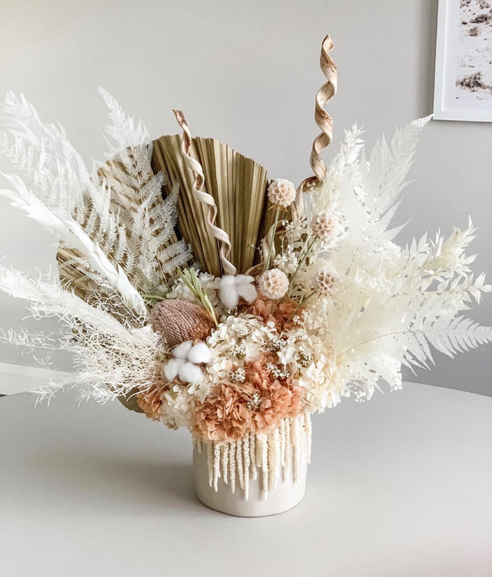 Large Everlasting arrangement with cloud vase