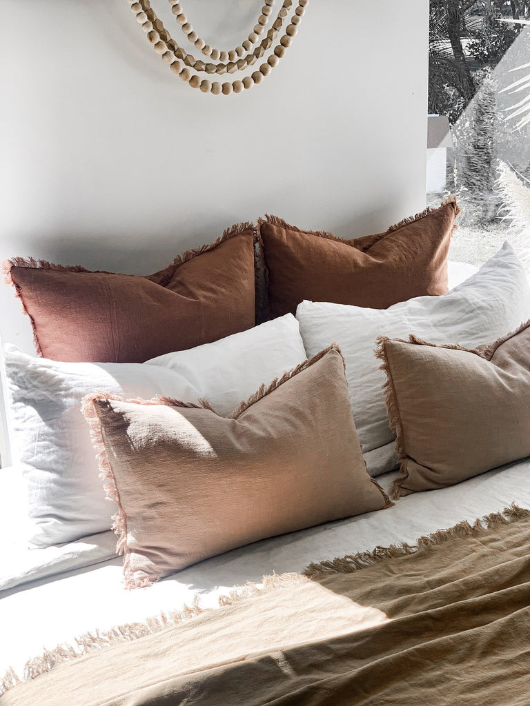 Ramie Euro cushion cover - Rust