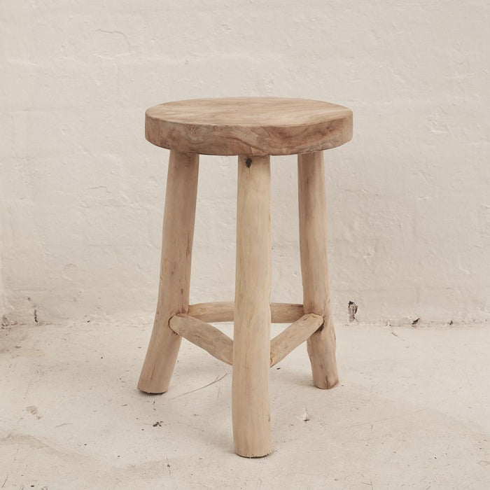 Lale Rustic Milking Stool - 46cm - Winston and Finch