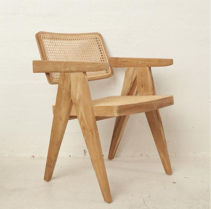 Leos Rattan Squared Off Chair - Winston and Finch