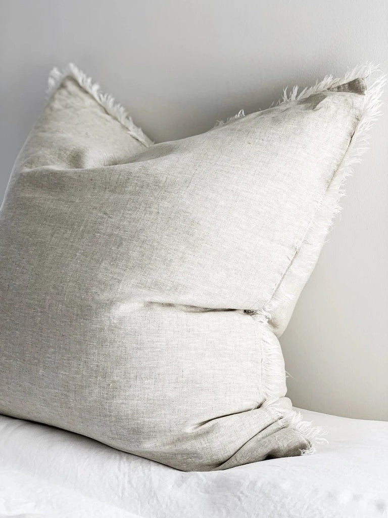 Linen Euro cushion cover - Flax - Winston and Finch