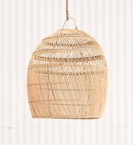 PREORDER - Daliah Rattan Oversized Light Shade Natural - Winston and Finch