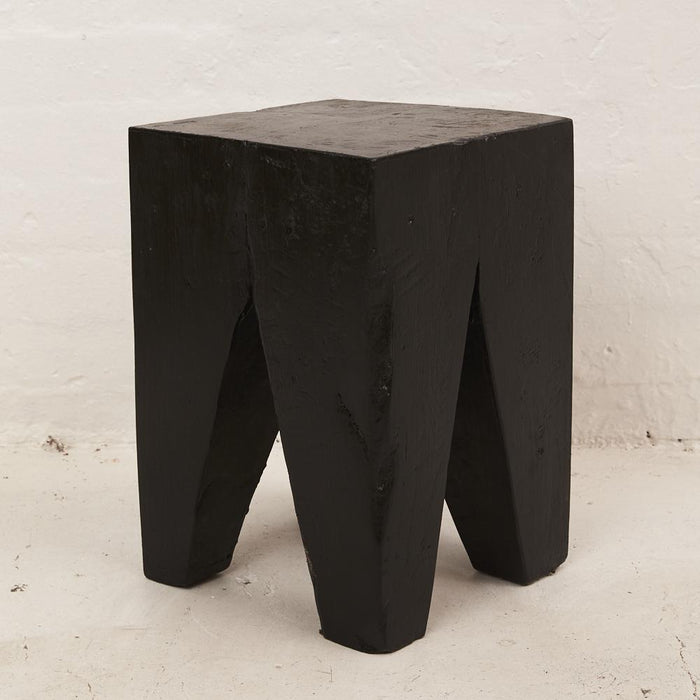 PREORDER - Rafi Peg Stool / Side Table Black - Winston and Finch