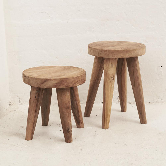 PREORDER - Rokha Stool with Four Legs - Winston and Finch