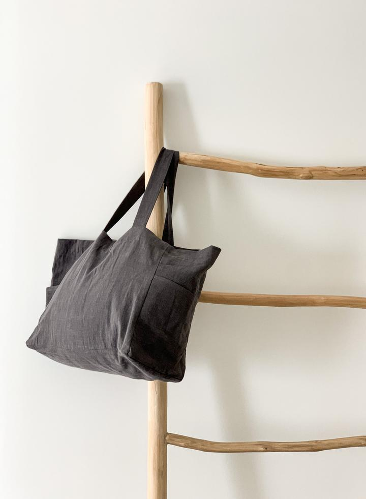 Ramie Bag - Charcoal - Winston and Finch