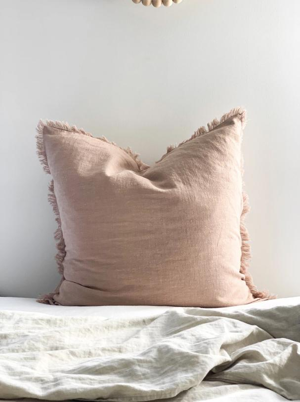 Ramie Euro cushion cover - Blush - Winston and Finch