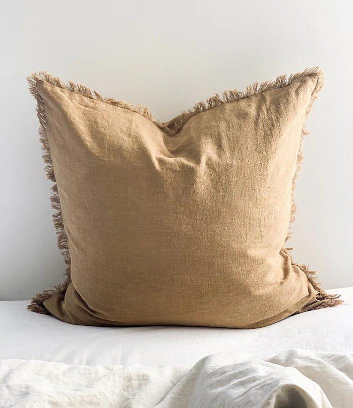 Ramie Euro cushion cover - Cinnamon - Winston and Finch