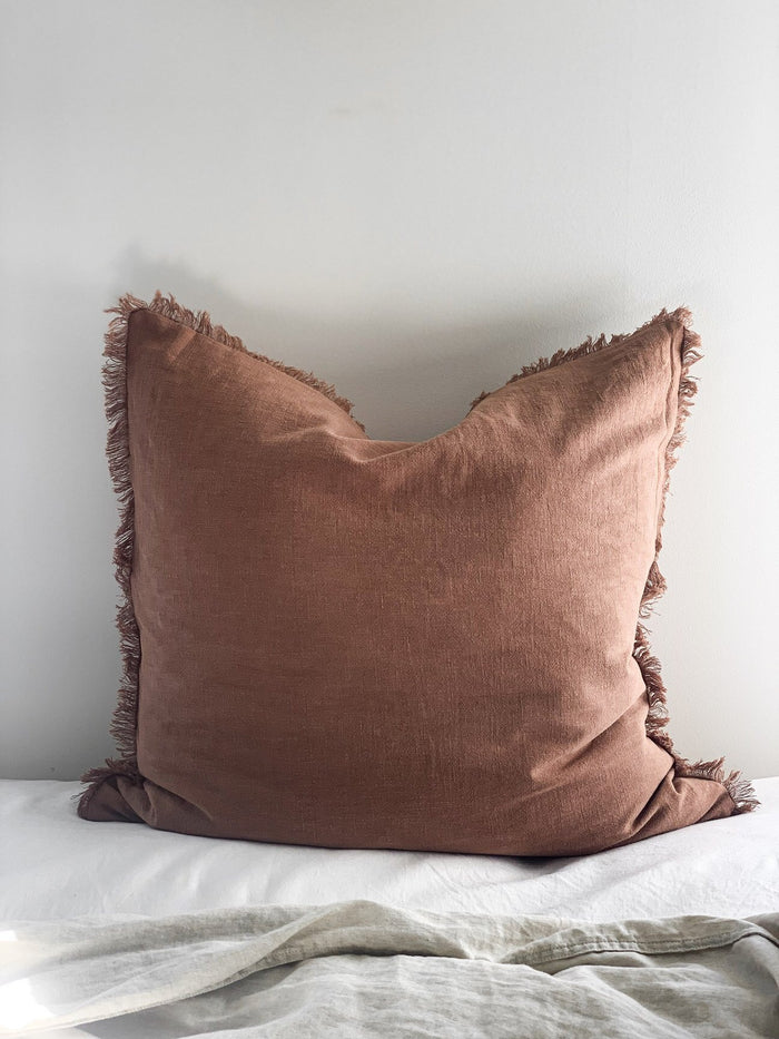Ramie Euro cushion cover - Rust - Winston and Finch